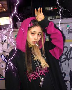 moodboard full of vaporewave and neon vibes Mode Outfits, Grunge Outfits, Girl Outfits, Goth Aesthetic, Aesthetic Clothes, Estilo Dark, Moda Punk, Icons Girls, Moda Streetwear