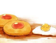 「卵たっぷりクッキー」/「チャイ」のイラスト [pixiv]