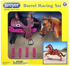 I can't contain my excitement! I was commissioned by Breyer this year to make a barrel racing saddle set , and after months of waiting, I'm ...