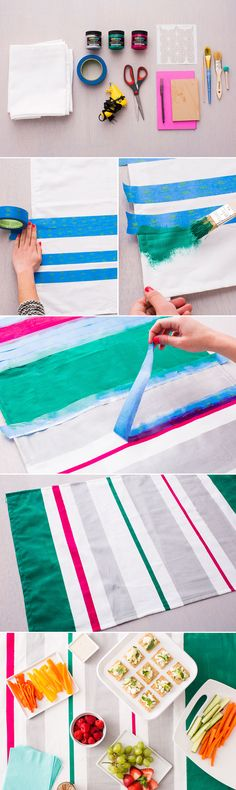 Brighten up your table with a DIY striped table runner.