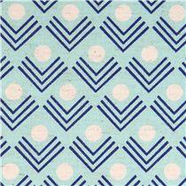 blauer corners Ecke Geo Canvas Stoff Framework Kokka - Punkte, Streifen, Karo - Stoffe - nice pattern