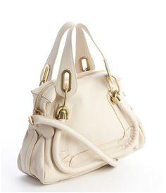 Chloe Husky White Leather 'Paratay' Small Shoulder Bag | Zoanne http://www.zoanne.com/bags/Chloe-Husky-White-Leather-Paratay-Small-Shoulder-Bag $1,520