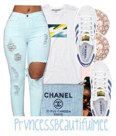 """💙"" by prvncessbeautifulmee ❤ liked on Polyvore featuring Billabong, Chanel, Givenchy and adidas"