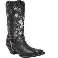 Crush by Durango Black Embroidered Harness Western Boots (Style #DCRD035) - Durango Boot Company