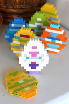 Build LEGO Easter Eggs with Kids