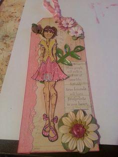 Prima doll stamp and Prima tag