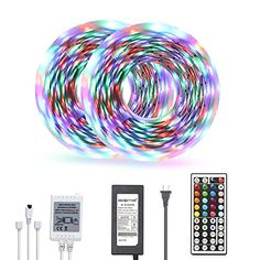 Daybetter Led Strip Lights 32.8ft Color Changing 3528 Led Light Strip Kit for Room Rope Light No White Color