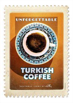 Vintage Travel Poster - Turkish Coffee