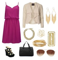 """Pink and gold"" by genevamq on Polyvore"