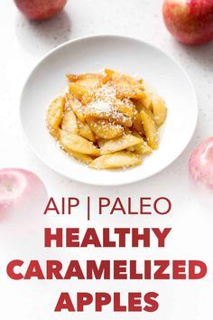 Deliciously simple recipe for Healthy Caramelized Apples will satisfy your sweet tooth. This recipe is allergy friendly and suits the autoimmune protocol (AIP), paleo and vegan diets. Paleo Recipes, Real Food Recipes, Egg And Grapefruit Diet, Boiled Egg Diet Plan, Caramelised Apples, 5 Ingredient Recipes, Eating Eggs, Dieta Paleo, Sans Gluten