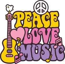 Illustration of Retro-style design of a guitar, peace symbol and dove with the words Peace, Love and Music. Type style is my own design. Paz Hippie, Hippie Peace, Hippie Love, Hippie Man, Hippie Style, Hippie Chick, Hippie Music, Hippie Vibes, Happy Hippie