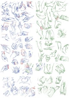 Hands and Feet, 100 of them by syo-senpai