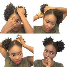 quick and easy pig tails pictorial for kinky 4c natural hair