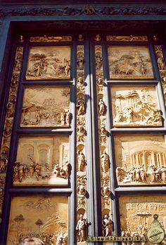 GHIBERTI. Baptisterio de Florencia. Puertas del Paraíso. 1425-1450. Door Detail, Architectural Features, Nature Images, Old Master, Beautiful Architecture, Kirchen, Gates, Portal, Renaissance