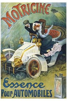 Motricine, petrol for automobile, vintage poster   G80403