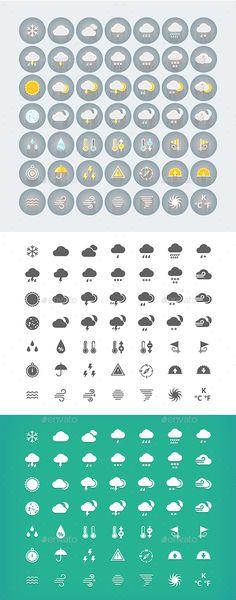 Weather Underground Icons Interaction Design Pinterest