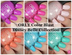 ORLY Color Blast Disney Belle Collection Swatches & Review | Cosmetic Sanctuary
