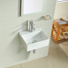 BATHROOM CLOAKROOM WALL HUNG BASIN SINK HS46
