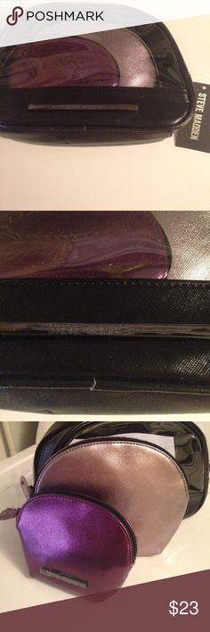 Steve Madden make up cases trio 3 in one bundle of Steve Madden make up and change purse either one u prefer to use it for! Thanks smoker! Nwt Steve Madden Bags Cosmetic Bags & Cases