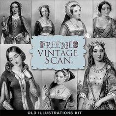 Kit Freebies Ejemplos del vintage