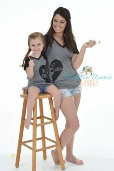 Mommy and Me/BFF Best Friends Shirt Set by MattieMaesLaundry