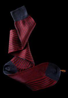 William Abraham - Luxury Socks for Men ● NAVY / RED