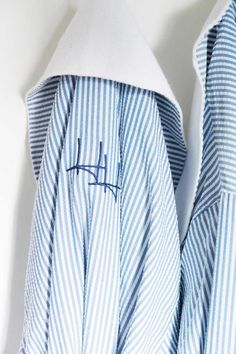 monogrammed seersucker robes lined with french terry - perfection!!!