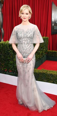 SAG 2015 Red Carpet Arrivals - Gretchen Mol from #InStyle