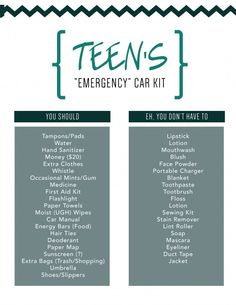 Emergency Car Kit 23 Teen Road Trip Essentials for Girls that everyone sh Maserati Ghibli, Bmw I8, Car Life Hacks, Car Hacks, Hacks Diy, Cleaning Hacks, Mini Cooper Clubman, Aston Martin Vanquish, Jeep Jk