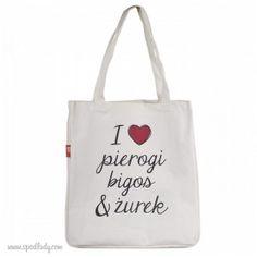Dla wszystkich miłośników polskiej, swojskiej kuchni. Cotton Bag, Reusable Tote Bags, Retro, My Love, Poland, Pierogi, Gifts, Diy, Favors