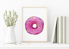 Excited to share the latest addition to my #etsy shop: Candy Wall Art, Girly Wall Art, Hot Pink Wall Art, California Wall Art, Pop Art Printable, Hamptons Wall Art, Modern Pop Art Print,Donut Art
