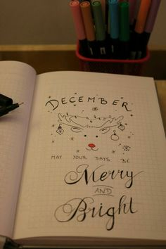 Bullet Journal December - May your days be merry and bright Hand Lettering