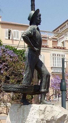 :Estatua del cenachero: Málaga. (Wikipedia)