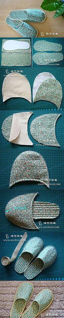 DIY Slippers diy sew diy crafts sewing how to tutorial home crafts craft gifts sewing crafts gift ideas Sewing Slippers, Crochet Slippers, Felted Slippers Pattern, Craft Tutorials, Sewing Tutorials, Sewing Patterns, Free Tutorials, Knitting Patterns, Sewing Hacks