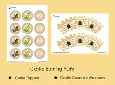 Castle Party Castle Theme Cupcake Wrappers