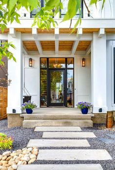 Modern Farmhouse Style-Trickle Creek Designer Homes - tongue and groove wood ceiling on porch.