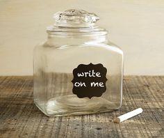 Write-on-me jar