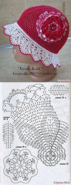 Häkelmuster-Fundgrube: Hut mit Blume