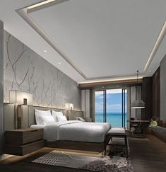 58 The Best Ceiling Design for Your Bedroom - Coziem Best Ceiling Designs, House Ceiling Design, Ceiling Design Living Room, Bedroom False Ceiling Design, Bedroom Ceiling, Master Bedroom Design, Modern Bedroom, Living Room Designs, Trendy Bedroom