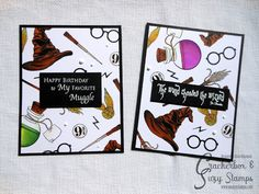 giadalesuenuvole: Crackerbox & So Suzy Stamps and MISTI Blog Hop Harry Potter Birthday Cards, Harry Potter Cards, Harry Potter Poster, Harry Potter Images, Harry Potter Gifts, Handmade Tags, Handmade Birthday Cards, Happy Birthday Me, Suzy