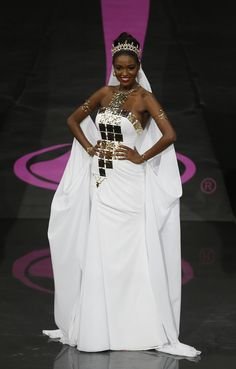 "Miss Israel, Yityish ""Titi"" Ayanaw, looking regal in the Miss Universe 2013 National Costume Show"