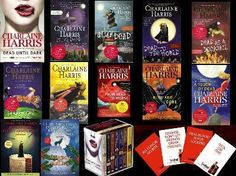 The Sookie Stackhouse series...and I'm not the least bit embarrassed to admit it! And everything else by Charlaine Harris...
