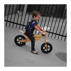 Balance bike timber with personalised name ridden by Jasper Toddler Fashion, Boy Fashion, Kids Clothing Brands, Balance Bike, 5 Year Olds, Tricycle, Bmx, Kids Learning, Classic Style