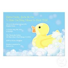 Rubber Ducky - Baby Shower Invitation