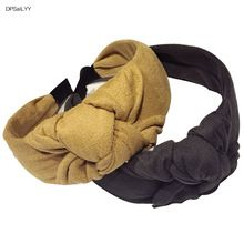 DPSaiLYY 1PC Winter Women Hair Accessories Top Knot Turban Headband Solid  Velvet Hairband Non Slip Stay on Knotted Headband 83a2608d2ae7
