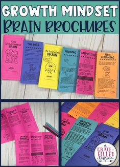 These Growth Mindset Brain Brochures are the perfect growth mindset activity to help your students learn about how their brain can grow and change. They can become smarter with effort and perseverance! #growthmindset #growthmindsetactivities #agracefilledclassroom