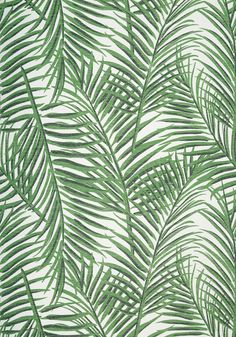 WEST PALM, Emerald Green, T13117, Collection Summer House from Thibaut