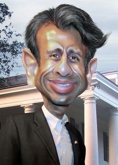 Bobby Jindal - Caricature | by DonkeyHotey
