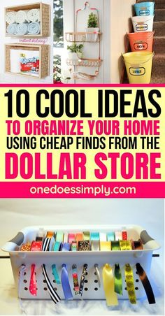 10 DIY Dollar Store Organization Hacks That Are Borderline Genius – 10 DIY Dollar Store Organisation Hacks, die Borderline-Genie sind –