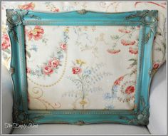 thrifted $5.00 wood gilded frame after Annie Sloan™ Provence /Craqueleur™/Dark Wax...instand age in a bottle!